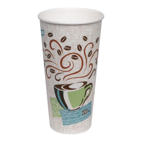 b21b5c83730 GP PRO Dixie® PerfecTouch® Insulated Paper Hot Cup, 20 oz. (Fits ...