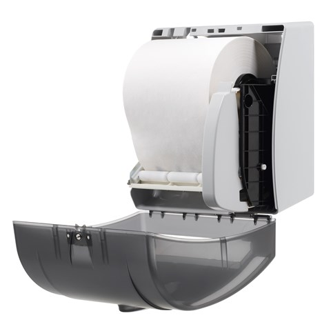 GP PRO# Universal Push-Paddle Paper Towel Dispenser, Smoke (54338)